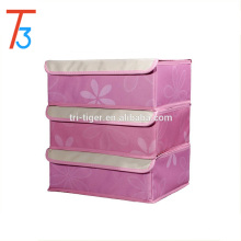 Foldable Drawer Dividers Closet Organizers Bra Underwear Storage Boxes with 3 Set