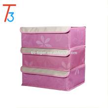 Cajas plegables de almacenamiento de la ropa interior del sujetador de los organizadores del armario de los divisores del cajón con 3 sistemas