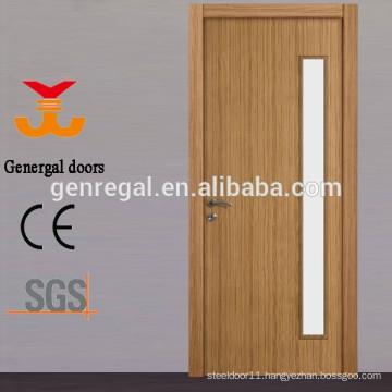 CE painted veneered tempered glass office utility wood door