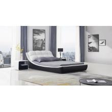 Европейская кожаная мебель для спальни с тумбочкой
