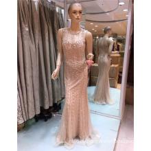 2017 Späteste Art- und Weiseentwurfs-nach Maß wulstiges Bling Meerjungfrau-Abend-Kleid für Arabisch