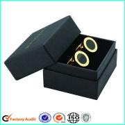 Karton Cufflink Verpakking Black Gift Box