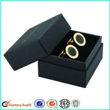Cardboard+Cufflink+Packaging+Black+Gift+Box