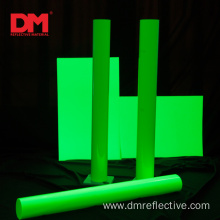 yellow green glow in the dark flash reflective fabric for cloth
