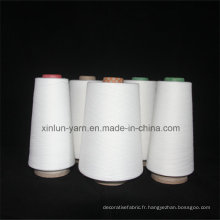 Fils de viscose blanc brut 100% pour tisser du tricot