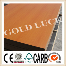 Wood Grain Melamine MDF for Furniture / Decoration