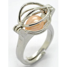 Love Wish Pearl Bead Ring Cage Design