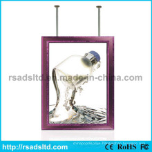 New Design Double Sided Hanging Advertising LED Slim Light Box