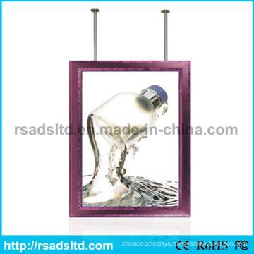 New Design Double Sided Hanging Advertising LED Slim Light Box