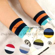 Мода и дизайн удобные две полосы в манжеты мальчиков хлопчатобумажные носки
