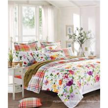 100% Cotton Reactive Print Floral Bedding Set