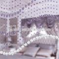 Cortinas frisadas decorativas da janela de cristal quente da venda