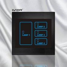 4 Gangs Lighting Touch Schalter Acryl Rahmen (SK-LT100L4)