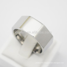 Cool Fashion Polygon Stainless Steel Nut Finger Ring For Men
