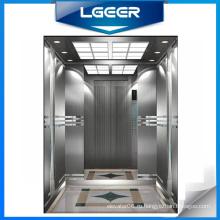 Пассажира Нержавеющей Стали Волосяного Покрова Отделка Лифт