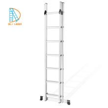 Escalera de tijera plegable multiusos para escaleras de combinación de extensión Lidl de aluminio