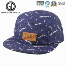 2016 Grande Mode Cap Coton Impression Bleu Snapback Camper Cap