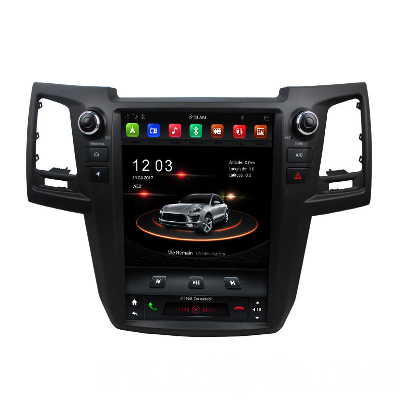 New touch screen navigation Fortuner 2015