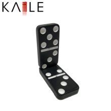 Noir de mélamine avec l'usine de jeux de points blancs Domino
