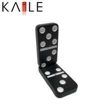 Melamine Black with White Dots Domino Games Factory