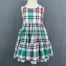 Kinderbekleidung Plaid Girl Dress Design 2-10