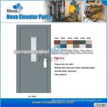 Puerta semiautomática para elevadores domésticos