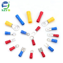 High Quality RV Power Insulating Tinned Copper Crimp Cold-pressed terminal pre-insulated ring terminal 1200pcs combination set