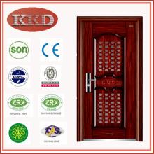 Steel Security Door KKD-707 for Apartment Entry with Communicating Door in Door