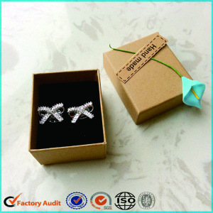 Small Craft Paper Jewelry Box For Earring