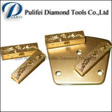 Tampon de meulage de segment PCD trapézoïdal pour plancher époxy enlevant le béton de peinture et de revêtement