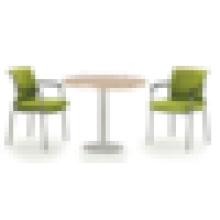 Mesa de conferência simples em alumínio em madeira, mesa de conferência acrílica