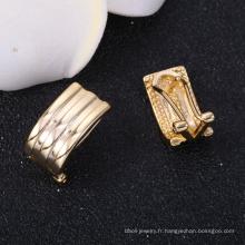 Boucles d'oreilles en plaqué or 14 carats poli pour bijoux de fête des mères