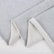Malha de poliéster brilhante de algodão lurex microfibra terry