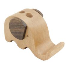 FQ marca en forma de animal personalizado titular de teléfono inteligente de madera