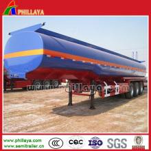 Tri Achse 50000 Liter chemische flüssige Behälter-saure Tanker-Anhänger