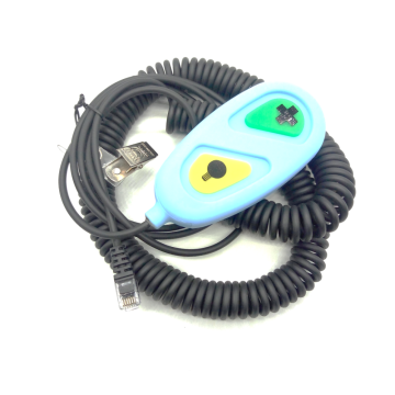 Nurse call button with coil cables