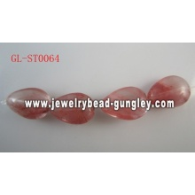 Grânulos de Gemstone Cherry quartzo genuínos