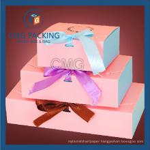 Lovely Nice Pink Printing Macaron Packing Box (CMG-cake box-005)