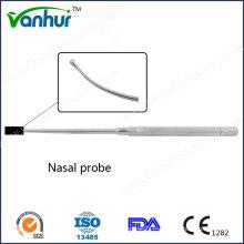 Instruments sinuscopiques Sondes nasales courbes à tête ronde