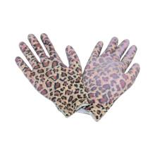 13G Strick Nahtloser Druck Polyster Liner Handschuh mit PU beschichtet