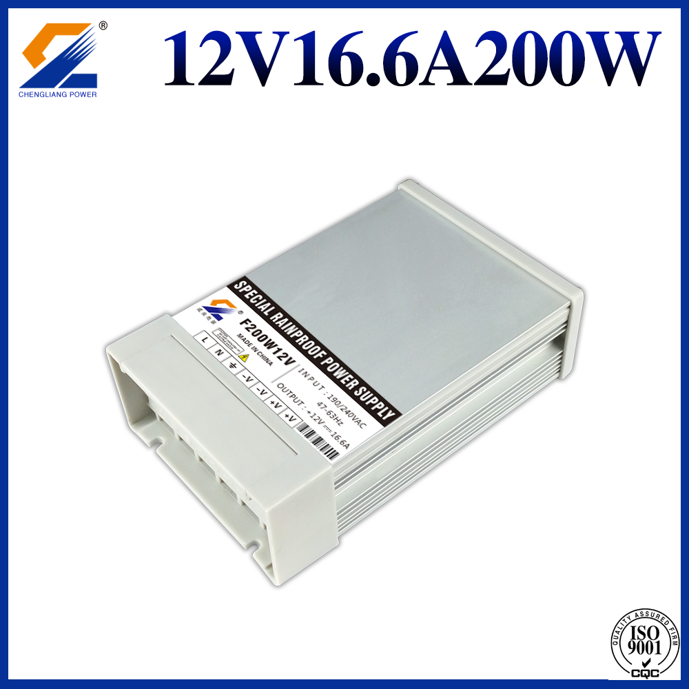 12V 200W Yg Tahan Hujan LED Power Supply