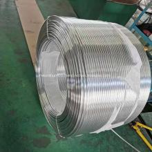 Aluminum coil tube for heat exchanger