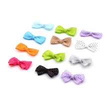 mini rainbow pre-made bow pre-tied ribbon bow