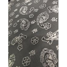 Grey Flower Water Drop Jacquard Lining