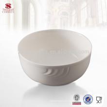 Tazón redondo de porcelana blanca con porcelana blanca