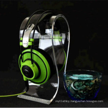Removable Acrylic Base Headphone Stand Display Headset Holder