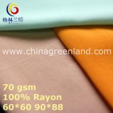Plain Rayon Fabric for Woman Textile (GLLML440)