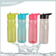 Billig Kunststoff Sport Wasserflasche mit Stroh, Promotion Tritan Wasserflasche
