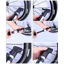 Inflateur à pompe à main miniature à vélo à haute résistance en alliage coloré