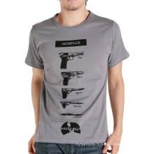 Gun Logo Impression d'écran Mode Personnalisé Coton Été Pas Cher En Gros Hommes T-shirt